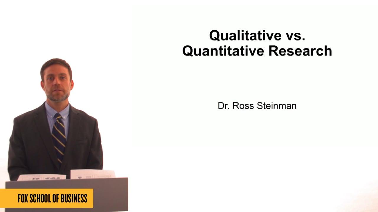 61335Qualitative vs. Quantitative Research