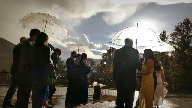 Diana + Allen Wedding Highlights - Della Terra Mountain Chateau Boutique Lodge - RMNP + Estes Park CO