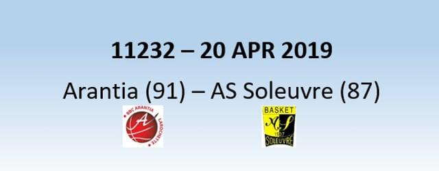 N1H 11232 Arantia Larochette (91) – AS Soleuvre (87) 20/04/2019