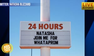 Whataprom Proposal This Is! Teen Asks on Fast Food Sign