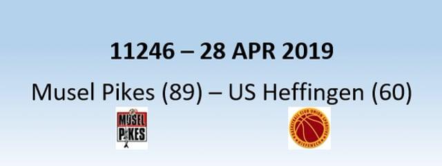 N1H 11246 Musel Pikes (89) - US Heffingen (60) 28/04/2019