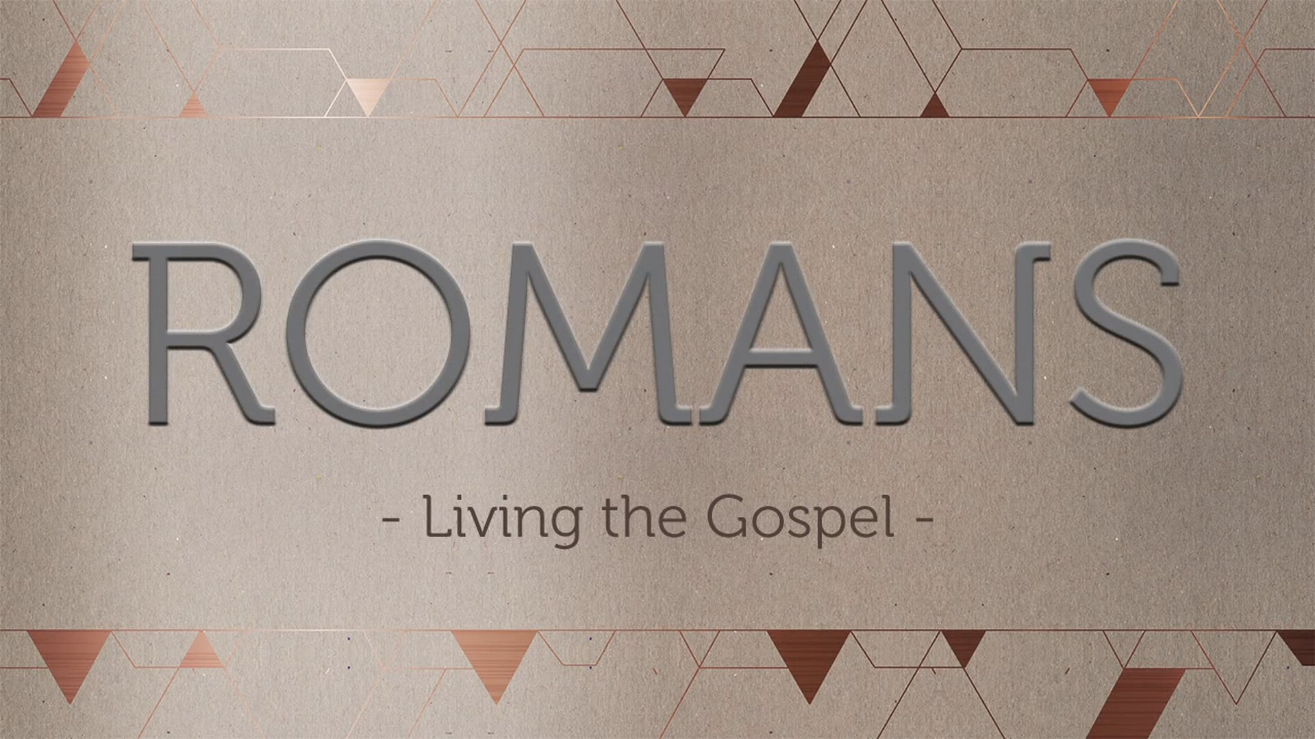 Week 6: Serve the Weak & the Strong -Romans 14:13-15:13