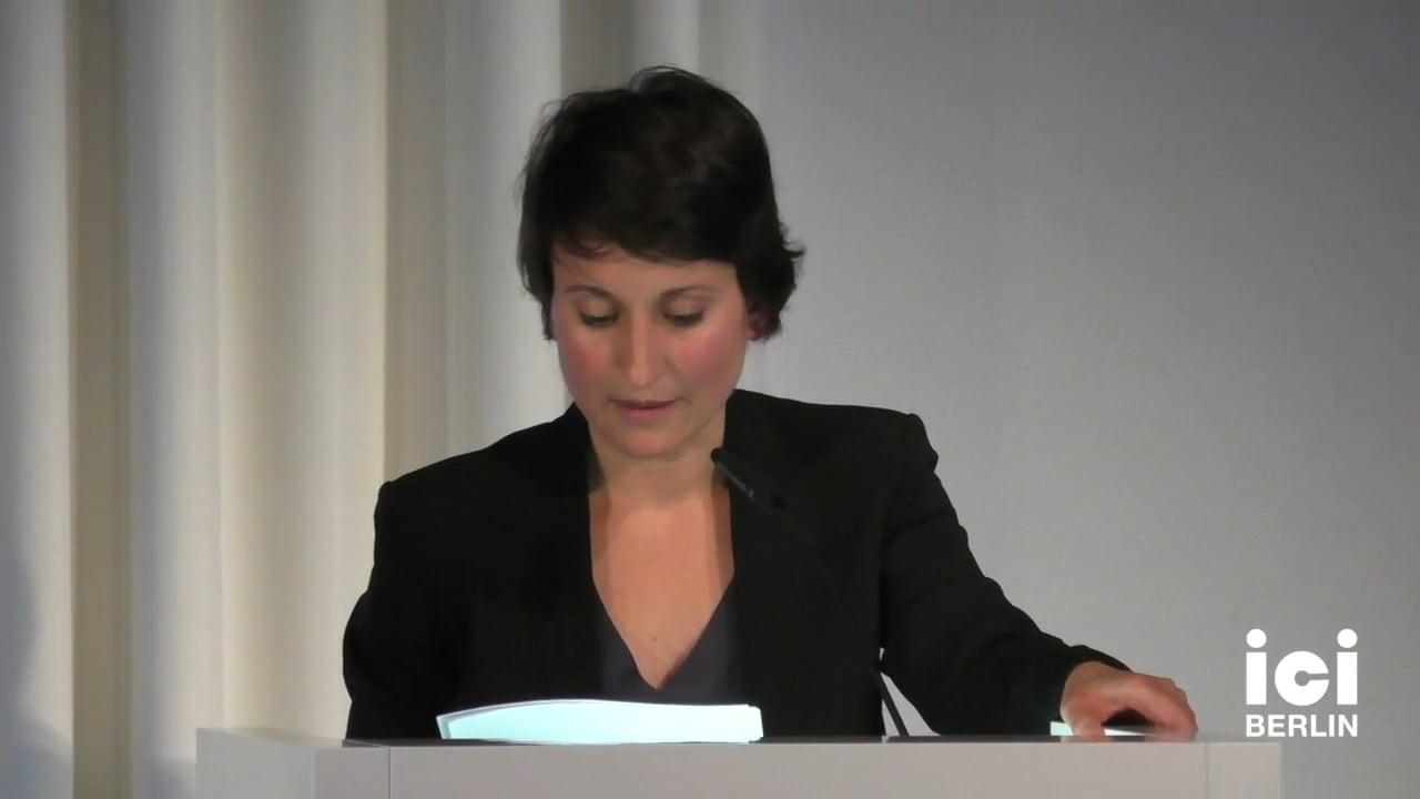 Talk by Frédérique Aït-Touati