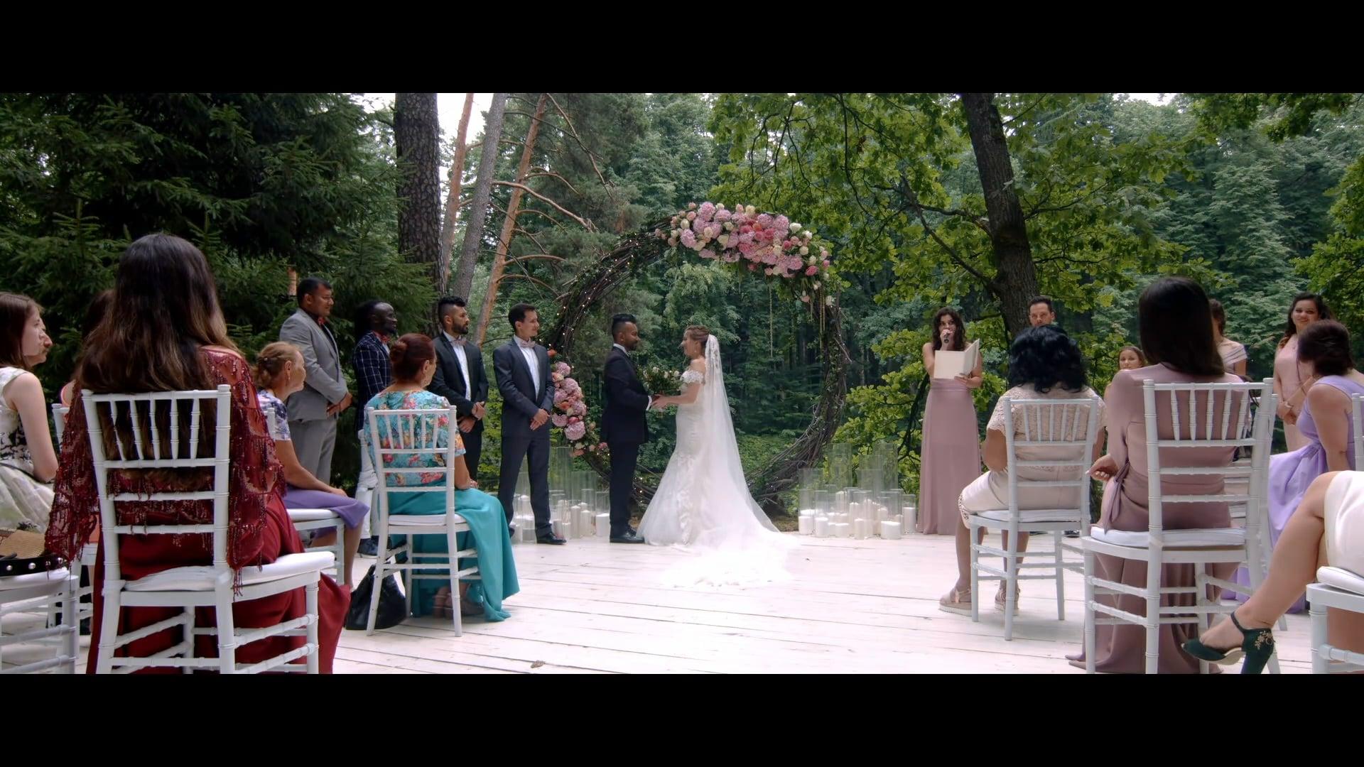 Alexander Ismailov bilingual hosting. Nabil and Ksenia wedding.