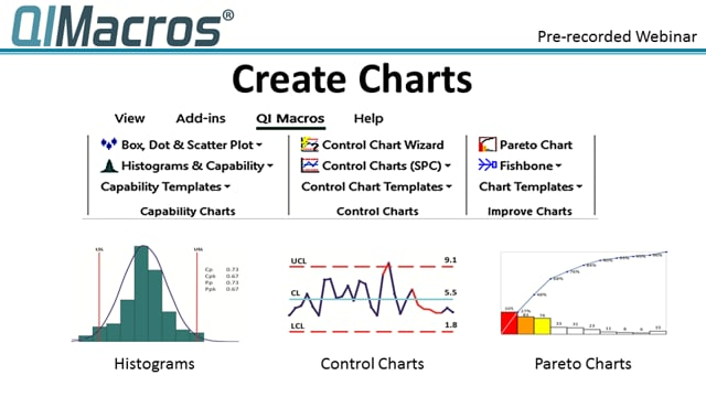 QI Macros Webinar: Creating Charts