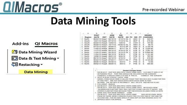 QI Macros Data Mining Wizard