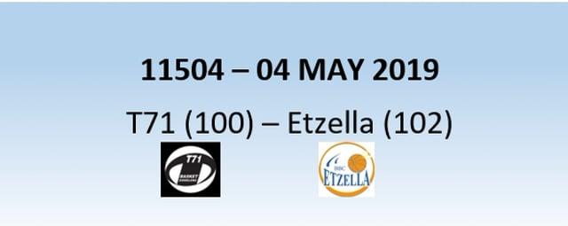 N1H 11504 T71 Dudelange (100) - Etzella Ettelbruck (102) 04/05/2019