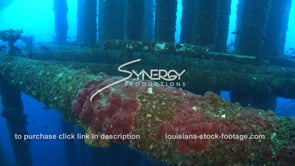 505 tilt down legs of oil rig in to the abyss gulf of mexico