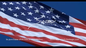1287 American flag blowing in the wind