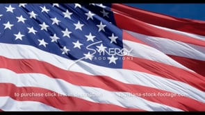 1286 low angle american flag with fast slow motion pan