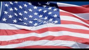 1285 CU of stars on american flag slow motion