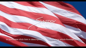 1284 nice CU red and white strips of american flag stock footage video