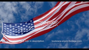 1281 cool low angle american flag video stock footage