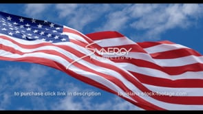 1280 slow motion american flag dramatic angle