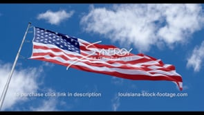 1279 proud american flag dramatic low angle video stock footage clip