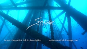 485B Epic awesome dramatic tilt up and down oil rig gas platform legs gulf of mexico