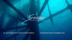 483 Dramatic silouette under oil rig gas platform underwater ecosystem
