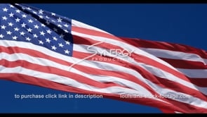 1275 slow motion proud american flag