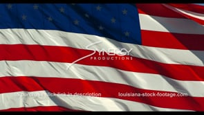 1269 cinematic close up american flag in slow motion