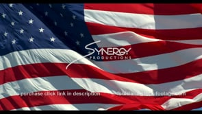 1268 epic american flag blowing in wind slow motion
