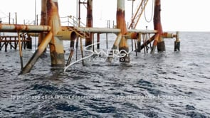 453 decommissioned oil rig gas platform legs offshore gulf of mexico