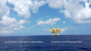 449 oil gas platform in deep water offshore Gulf of Mexico