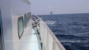 446 crew boat heading toward oil gas platform gulf of mexico