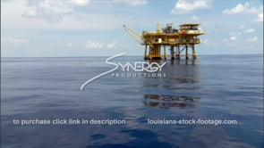 444 offshore oil rig gas platform in blue water deep water gulf of mexico tilt up