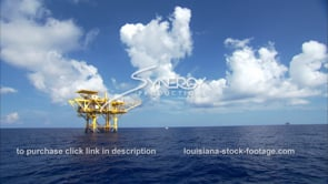 441 lone oil rig gas platform off Louisiana Texas coast gulf of mexico in deep water