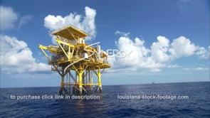 440 Nice shot oil rig gas platform near Texas Louisiana coast gulf of mexico