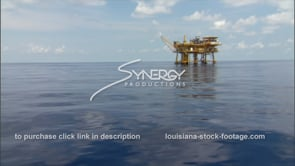 438 Oil rig gas platform in deep water gulf of mexico tilt up to rig