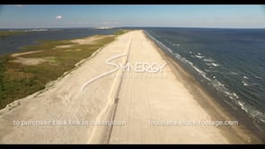524 Epic awesome aerial drone view of Louisiana coast restoration stock footage video