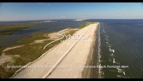 525 Awesome aerial view of coastal restoration Louisiana
