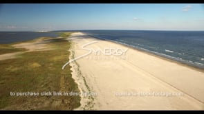526 dramatic aerial ascent view of epic coastal restoration in Louisiana