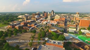 1253 static shreveport skyline stock footage video drone aerial view video