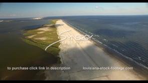 532 coastal restoration video Grand Isle Louisiana Coast stock footage