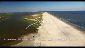 533 Grand Isle Louisiana aerial beach restoration stock footage video