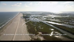 535 Louisiana coast restoration with eroded marsh land swamp aerial drone comparison