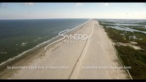 538 Nice aerial restored Louisiana coastal coastline beach
