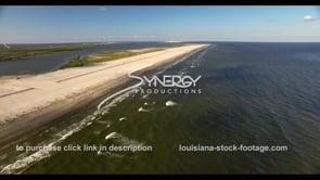539 drone aerial grand isle port fourchon beach restoration video