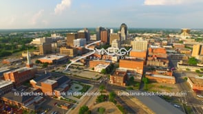 1248 Epic shreveport aerial drone stock footage video