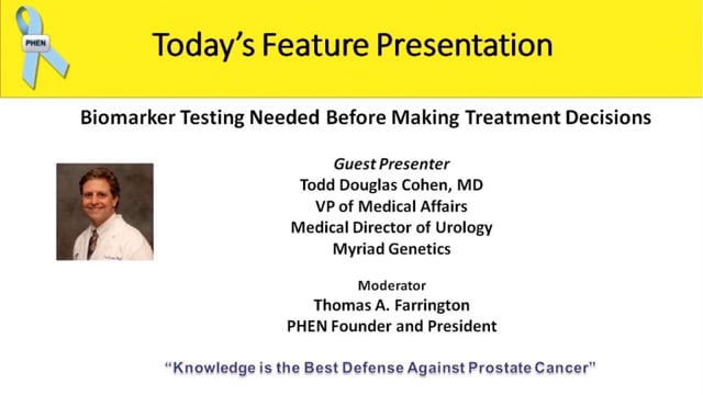 Biomarker Testing Needed Before Making Treatment Decisions with Dr. Todd Cohen