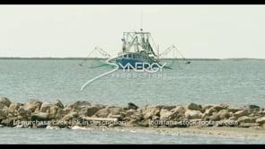 581 Shrimp boat off the coast of grand isle Jean Lafitte barataria bay louisiana