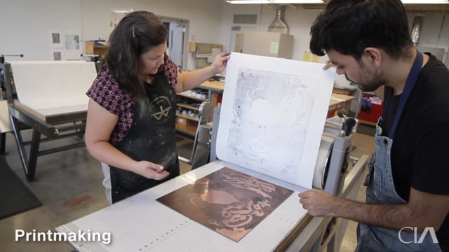 Printmaking at Cleveland Institute of Art