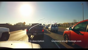 1099 stop and go traffic stock footage video interstate 10 i10