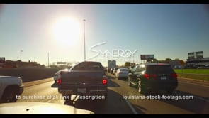 1098 stop and go traffic interstate 10 i10 stock footage video