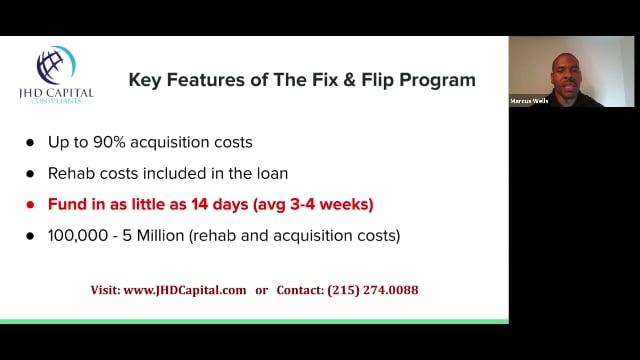 Fix & Flip Webinar Clip #1 (May 13th 2019)