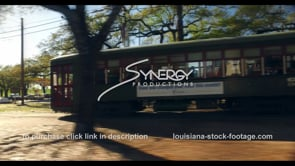 1093 Iconic New Orleans streetcar video stock footage