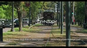 1088 awesome shot New Orleans streetcar driving toward camera