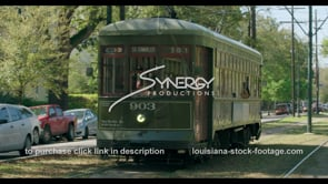 1087 New Orleans Louisiana streetcar stock footage